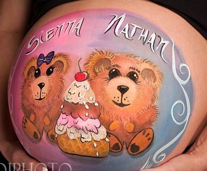 Pregnant Belly Body Painting Contest West Coast Face Painters